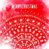 Plantilla de la tarjeta de felicitación de la Navidad y del Año Nuevo Fotos de archivo