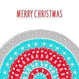 Plantilla de la tarjeta de felicitación de la Navidad y del Año Nuevo Fotografía de archivo libre de regalías