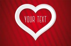 Plantilla de la tarjeta de felicitación del amor Fondo del vector para casarse o el día de San Valentín Fotografía de archivo libre de regalías