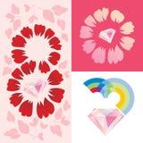 Plantilla de la tarjeta de felicitación del día del ` s de las mujeres Imagenes de archivo