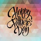 Plantilla de la tarjeta de felicitación para el padre Day Vector Imagen de archivo libre de regalías
