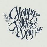 Plantilla de la tarjeta de felicitación para el padre Day Vector stock de ilustración