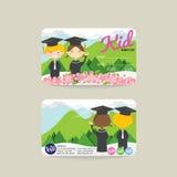 Plantilla de la tarjeta de Front And Back Kids Member ilustración del vector