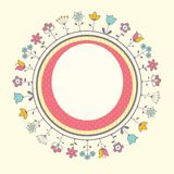 Plantilla de la tarjeta de la fiesta de bienvenida al bebé Imagenes de archivo