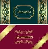 Plantilla de la tarjeta de la invitación. Imagenes de archivo