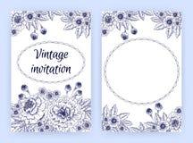 Plantilla de la tarjeta de la invitación con las maravillas Foto de archivo libre de regalías