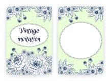 Plantilla de la tarjeta de la invitación con las maravillas Imagen de archivo libre de regalías