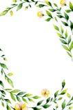 Plantilla de la tarjeta de la invitación de la acuarela Foto de archivo libre de regalías