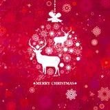 Plantilla de la tarjeta de la invitación de la Navidad. EPS 8 Imágenes de archivo libres de regalías