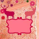 Plantilla de la tarjeta de la invitación de la Navidad. EPS 8 Fotografía de archivo