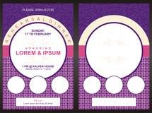 """Plantilla de la tarjeta de la invitación del partido de cena del †del menú """" Imágenes de archivo libres de regalías"""