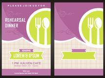 """Plantilla de la tarjeta de la invitación del partido de cena del †del menú """" Fotografía de archivo"""