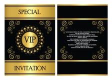 Plantilla de la tarjeta de la invitación del VIP Fotografía de archivo