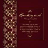Plantilla de la tarjeta de la invitación o de felicitación Foto de archivo