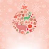 Plantilla de la tarjeta de la invitación de la Navidad. EPS 8 Foto de archivo libre de regalías