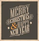 Plantilla de la tarjeta de Navidad en vieja textura de papel Fotos de archivo