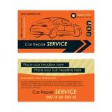 Plantilla de la tarjeta de visita de la reparación auto Cree sus propias tarjetas de visita ilustración del vector
