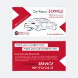 Plantilla de la tarjeta de visita de la reparación auto Cree sus propias tarjetas de visita fotografía de archivo libre de regalías