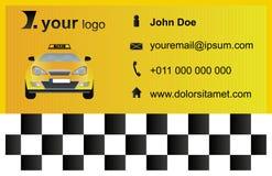 Plantilla de la tarjeta de visita del taxi Foto de archivo