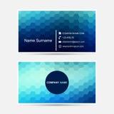 Plantilla de la tarjeta de visita del vector Diseño azul Foto de archivo libre de regalías
