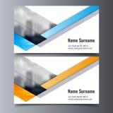 Plantilla de la tarjeta de visita del vector Disposición creativa de la identidad corporativa Foto de archivo