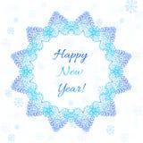 Plantilla de la tarjeta del Año Nuevo Imagen de archivo