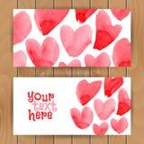 Plantilla de la tarjeta del amor Fotografía de archivo