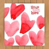 Plantilla de la tarjeta del amor Fotos de archivo