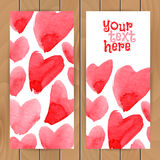 Plantilla de la tarjeta del amor Foto de archivo libre de regalías