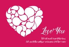 Plantilla de la tarjeta de la tarjeta del día de San Valentín de Minimalistic Imagen de archivo libre de regalías