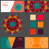 Plantilla de la tarjeta del estudio de la yoga Imagen de archivo