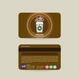 Plantilla de la tarjeta del miembro de Front And Back Coffee Shop ilustración del vector