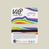 Plantilla de la tarjeta del miembro de Front And Back Rainbow Stripes VIP libre illustration