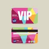 Plantilla de la tarjeta del miembro de Front And Back VIP ilustración del vector