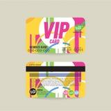 Plantilla de la tarjeta del miembro de Front And Back VIP stock de ilustración