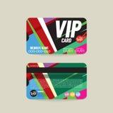 Plantilla de la tarjeta del miembro de Front And Back VIP libre illustration