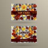 Plantilla de la tarjeta del VIP Imágenes de archivo libres de regalías