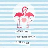 Plantilla de la tarjeta de felicitación del día del ` s de la tarjeta del día de San Valentín fotos de archivo