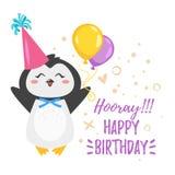 Plantilla de la tarjeta de felicitación del feliz cumpleaños stock de ilustración