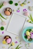 Plantilla de la tarjeta de felicitación de Pascua Imágenes de archivo libres de regalías
