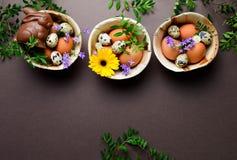 Plantilla de la tarjeta de felicitación de Pascua Imagenes de archivo