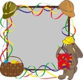 Plantilla de la tarjeta de felicitación de Pascua con el conejo Imagen de archivo