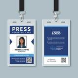 Plantilla de la tarjeta de la identificación del reportero de la prensa libre illustration