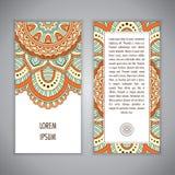 Plantilla de la tarjeta de la mandala Imágenes de archivo libres de regalías