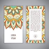 Plantilla de la tarjeta de la mandala Imagen de archivo