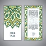 Plantilla de la tarjeta de la mandala Imagenes de archivo