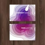 Plantilla de la tarjeta de visita con el diseño colorido, abstracto del corte del papel, ejemplo del vector stock de ilustración