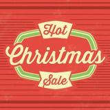 Plantilla de la venta de la Navidad ilustración del vector