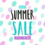 Plantilla de la venta del verano Imagenes de archivo