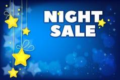 Plantilla de la venta de la noche para el anuncio de las ofertas especiales Stock de ilustración